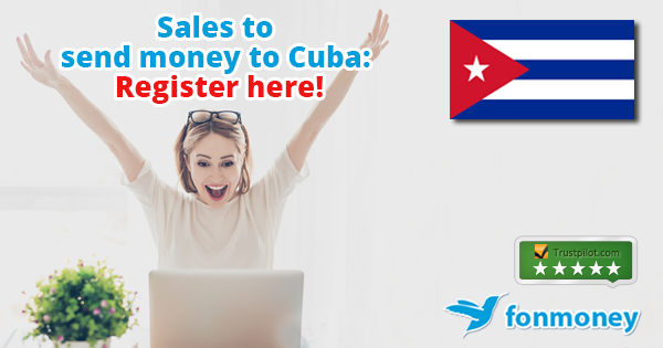Promotion to send money to Cuba